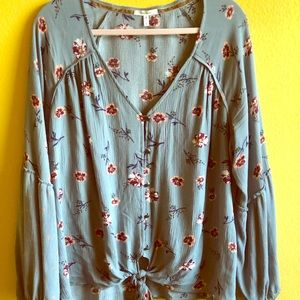 ✂️PRICE CUT🍁 MAURICES SHEER BLOUSE LONG SLEEVE 🍂